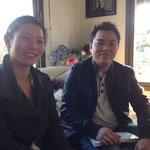 Bich Tram avec Phan Quang Tien, le président de lAEVM