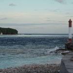 Einfahrtspassage ins Atoll Rangiroa