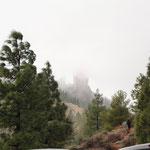 El roque Nueble - das Wahrzeichen von Gran Canaria sahen wir wegen dichtem Nebel nicht...