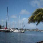 Rodney Bay Marina - sonst ist sie eigentlich ganz schön...