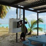 Telefonkabine auf Direction Island