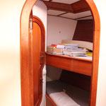 Vorschiffskabine für Gäste