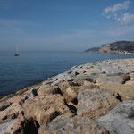 ... kurz vor der Einfahrt in den Hafen...