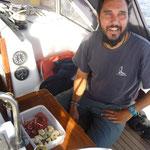 Essen im Cockpit bei ruhigen Verhältnissen
