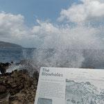 Blowholes auf Christmas Island