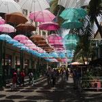 Moderne Einkaufsstrasse in Port Louis, Mauritius