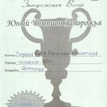Юный чемпион Запорожья