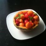 Cuisine en légèreté. Fraises et melon.