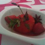 Cuisine en légèreté. Fraises et tomates confites à Brides.
