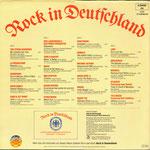 """Rückseite des Plattenalbums """"Rock in Deutschland - Vol. I"""" von 1980 0 (Foto discogs.com)"""