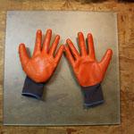 Glas komplett mit Waschbenzin entfettet und gereinigt. Die beschichteten Handschuhe benutze ich, damit die Scheiben fettfrei bleiben.