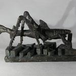 Miethaischrecke (H 16 cm, Bronze)