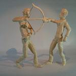 Abrüstungsgespräch (H 25 cm, Keramiplast)