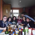 Im Uhrzeigersinn: Ich, Jessica, Margret, Sergio, Conor, Aihwa, Tesa