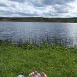 Sonnen am Loch Borralan