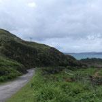 Schmale Highland Straßen