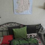 Vollgepackt Zuhause angekommen - dort hängt noch immer die Irlandkarte :-).