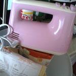 Back-Zeit mit dem coolen rosa Mixer :-D