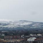 Schnee in den Wicklow Mountains!