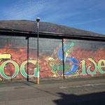 Im Bogside-Viertel: Grafittis , die an den Bloody Sunday  erinnern