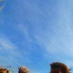 3.  _Der Himmel über Hamburg_ Im Hintergrund die sich noch im Bau befindliche Elbphilharmonie.
