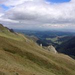 La vallée de Chaudefour vue du col de la Cabanne