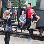 Museumsbahn im Bahnhof Schönberger Strand: Ute Haese, Angelika Svensson, Kirstin Warschau