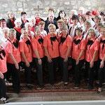 Singen bei Chortreffen in Liebenrode