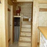 escalier pour aller à l'étage