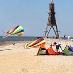 Kitesurfstrand in Döse an der Kugelbake