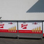 Bar Stiegl 4x1,5m mit Bord +2x Eck