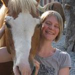 Saskia mit ihrem Pferd