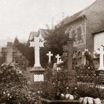 Reihengräber am nordöstlichen Teil des Friedhofs