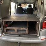TRAVEL-SLEEP-BOX Transporter kurzer Radstand mit Schubladenlänge 1,30m und 180kg Last und Zusatzmodul