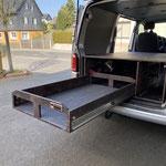 TRAVEL-SLEEP-BOX Transporter kurzer Radstand mit Schubladenlänge 1,30m und 180kg Last