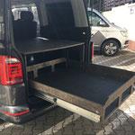 TRAVEL-SLEEP-BOX für den Multivan Schubladenlänge 1,30m mit 180kg Last