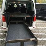 1,80m lange Schublade mit 180kg Last für Transporter oder Caravelle langer Radstand