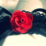 Gothic Lolita Red Rose Headband