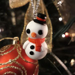 Kawaii Christmas Snowman Necklace
