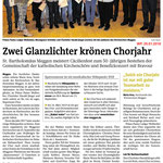 Kirchenchor Meggen, Bericht zur Generalversammlung 2018