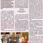 Kirchenchor Meggen, Bericht zur Generalversammlung 2013