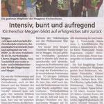 Kirchenchor Meggen, Bericht zur Generalversammlung 2010