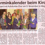 Kirchenchor Meggen, Bericht zur Generalversammlung 2014