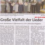 Kirchenchor Meggen, Bericht zur Generalversammlung 2008
