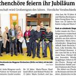 Kirchenchor Meggen, Bericht zur Generalversammlung 2017