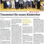 Kirchenchor Meggen, Bericht zur Generalversammlung 2016