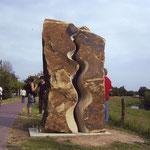 """""""im fluss"""", 2004, Ibbenbührener Sandstein"""