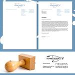 Briefbogen sowie Stempel für Devant Design | Kommunikation . Marketing . Design