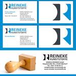 Visitenkarten und Stempel für Reineke Kunststoffe