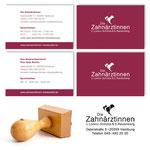 Visitenkarten & Stempel - Zahnärzinnen Claudia Lorenz-Schütze & Susanne Rautenberg (Zahnärtliche Gemeinschaftspraxis in Hamburg-Eimsbüttel)